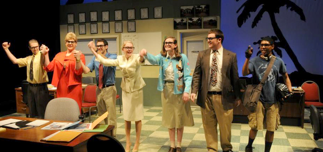 The wonderful cast of THE GLASSES at High Point University, directed by Ed Simpson.